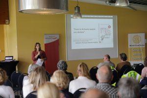 Diana Hermans (IJmond Werkt) organiseerde de workshop