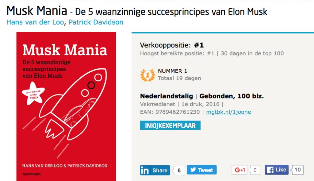 Musk Mania bestseller #1