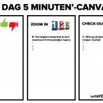 Elke dag 5 minuten canvas - blanco canvas (download)