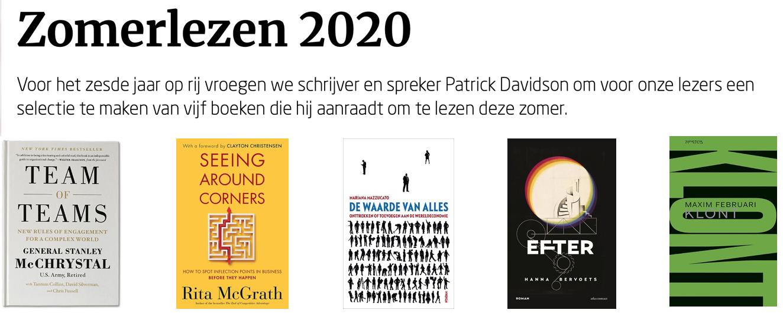 Zomerlezen 2020 - 5 boeken