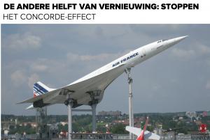 Stoppen is een kunst (Het Concorde-effect)