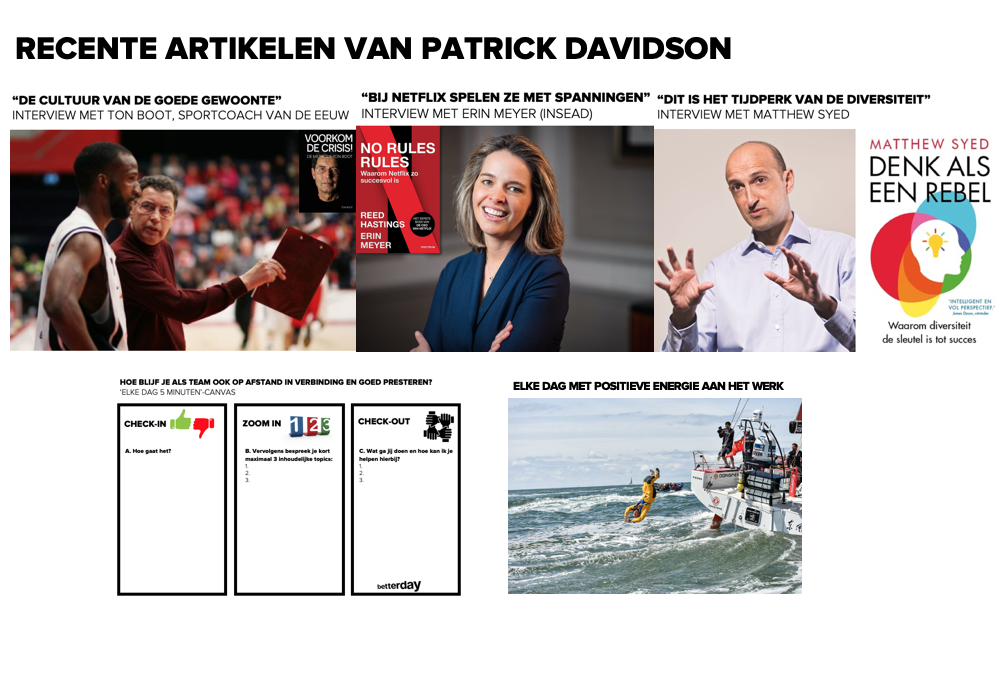 Artikelen van Patrick Davidson over teams, teaming en coaching