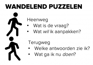 Wandelend puzzelen - work hack