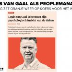 Louis van Gaal peoplemanager Oranje teaming Patrick Davidson