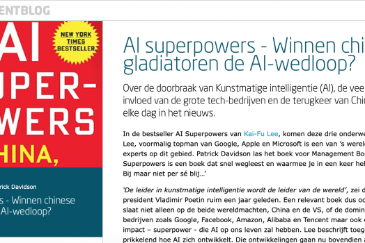 AI Superpowers : China, Silicon Valley and the New World Order – KAI-FU LEE