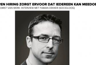 Visie op de toekomst van werk: Fabian Dekker