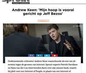Andrew Keen: 'Mijn hoop is vooral gericht op Jeff Bezos' (Interview)