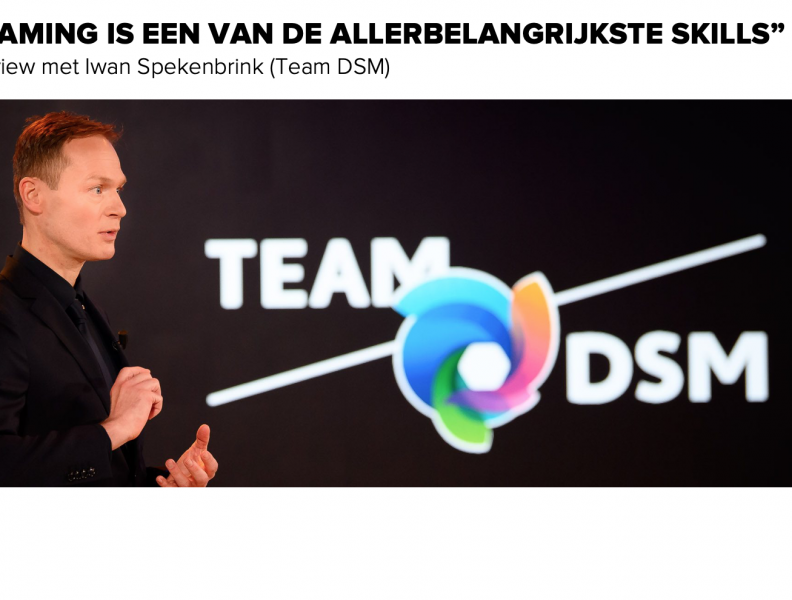 Team DSM: interview met Iwan Spekenbrink over de kracht van teaming