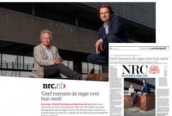 NRC Handelsblad over Werkvuur: 'Geef mensen de regie over hun werk'