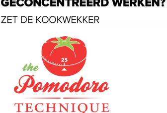 Geconcentreerd werken? Gebruik de Pomodoro-techniek