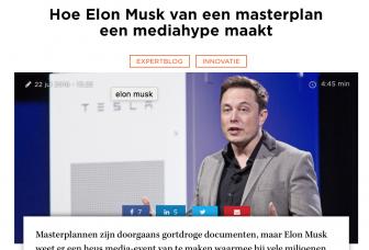 Blog voor Sprout over het masterplan van Elon Musk