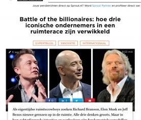 Battle of the billionaires: hoe drie iconische ondernemers in een ruimterace zijn verwikkeld