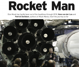 Rocket Man Elon Musk (Engelstalig artikel in Business Plus dec 2018)