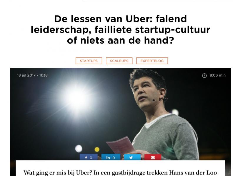 De lessen van Uber: falend leiderschap, failliete startup-cultuur of niets aan de hand?