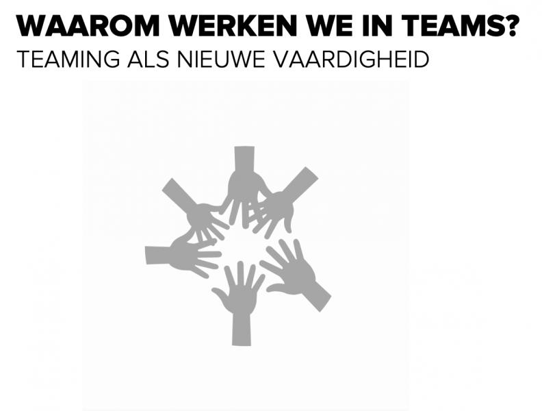 Waarom werken we in teams?