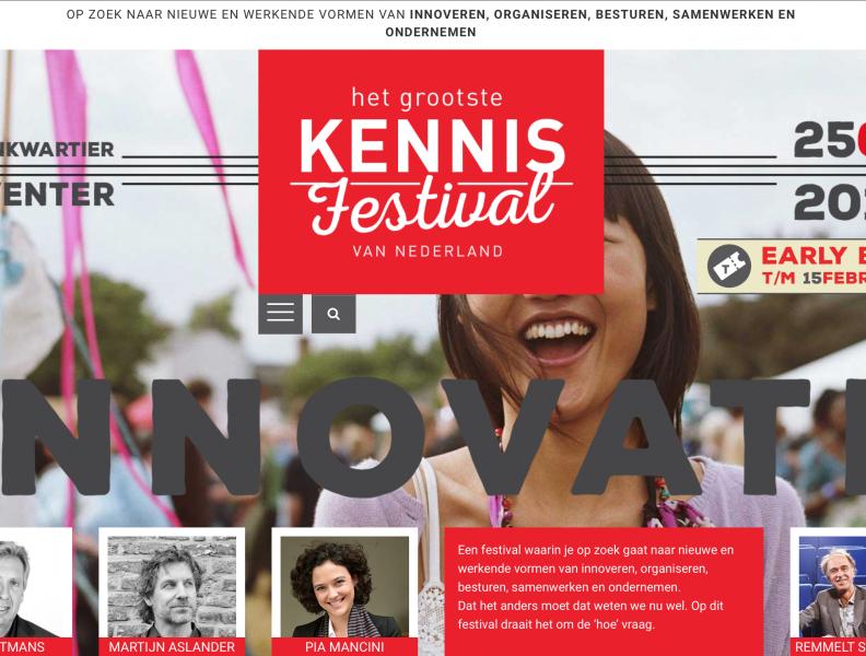 25 mei is het Grootste Kennisfestival van Nederland